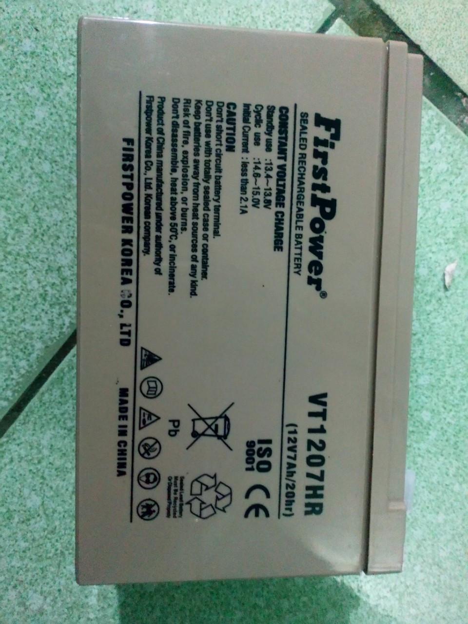 Bình ắc quy FirstPower - VT1207HR (FP1270HR)