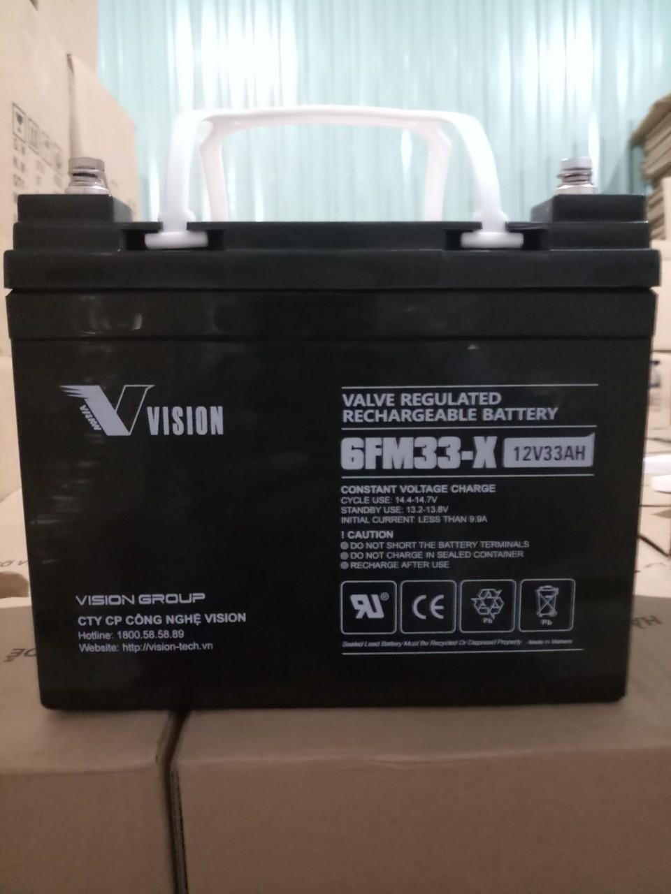 Binh ắc quy Vision 12V-33AH 6FM33-X