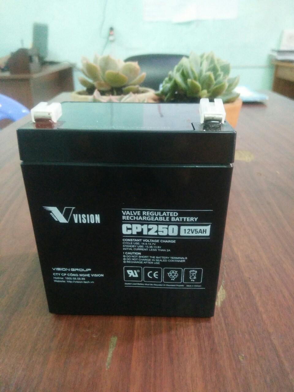 Bình ắc quy Vision 12V-5Ah, CP1250
